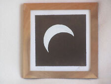 Partial Eclipse original painting astronomy sun moon