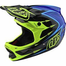Troy Lee Designs D3 Fiberlite Speedcode Helmet Yellow/Blue MD