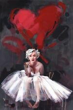 NEW MAXI POSTER MARILYN MONROE PAINTED LOVE HEART