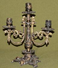 Vintage hand made ornate brass candelabra candle holder