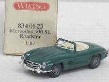 MERCEDES-BENZ 300 SL Roadster in verde, OVP, Wiking, 1:87 (HV)