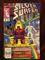 Silver Surfer, #35, VF/NM 9.0, Thanos, Infinity Gauntlet/Infinity War/Endgame