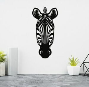 Zebra Head Geometric Wall Art Home Living room Bedroom Decor large size