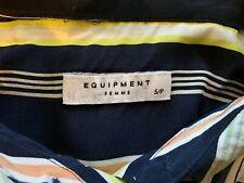 Equipment Femme Janna Dress - Silk Stripe Sleeveless - Size Small - Ntsf