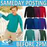 KIDS FOTL RAGLAN SWEATSHIRT PLAIN PE BLANK SWEATER SCHOOL UNIFORM JUMPER 62039