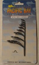 New Carded Set of 9 Pacific Pac Bay Black Spinning Fishing Rod Guides BSVHG