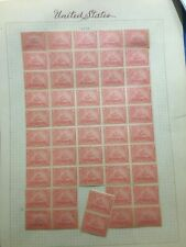 1898 Scott # R166 Rare Unused Sheet of 50 MH, 2 stamp separation from sheet