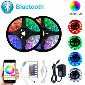 Bluetooth LED Strip Light 20M RGB 5050 SMD Flexible Ribbon 12V Bluetooth Control
