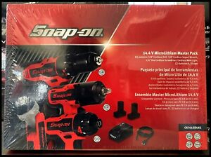 *NEW* Snap On 14.4V MasterPack Impact Wrench Drill Screwdriver Light CK761SIDLK2
