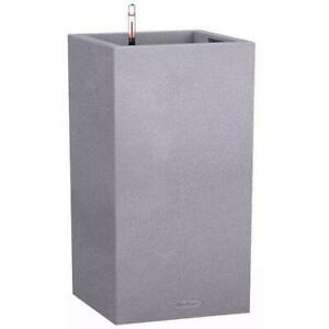 LECHUZA CANTO Stone High Square Tall Poly Resin Self-watering Planter
