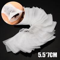 100X 5.5*7cm non-tissé vide sachet chaîne de chaleur ÉTANCHE filtre à thé sac
