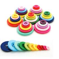 100 Pcs Resin Round Buttons Sewing DIY Scrapbooking Decals for Kids Crafts