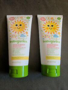 [Set of 2 SEALED] Babyganics Sunscreen Lotion SPF 50+, 6 oz - EXP 05/2019