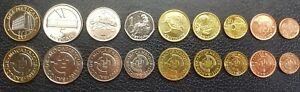 Mozambique Set 9 coins, 1 5 10 20 50 Centavos 1 2 5 10 Meticais 2006 2012, UNC