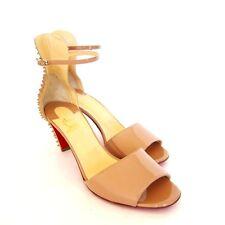 S-1762329 New LouBoutin Trezanita 70 Nude Patent Leather Shoe Sz US 8/marked 38