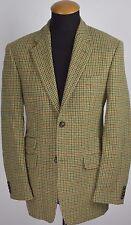 McNeal Harris Tweed Mens Blazer size 38R Wool Houndstooth Check Plaid gr 48