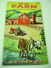 VTG PAPER TOY DOLLS 1956 FARM GOLDEN FUNTIME PUNCH BOOK  ULTRA RARE!!! giant