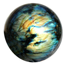 Natural Labradorite Quartz Stone Sphere Crystal Moonstone Ball Healing Gemstone