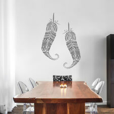 Feathers ethnic large stencil for Wall decor DIY projects tribal stencil