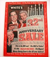 "1950-60's ""White's Stores"" 32nd Anniversary Sale Booklet - Great 50's Memories*"