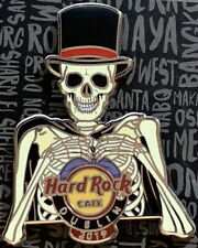 Hard Rock Cafe Dublin 2019 Halloween Spilla Scheletro Indossa Top Cappello - Hrc