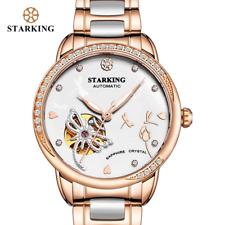 STARKING Brand Luxury Watch Mechanical Women Skeleton Automatic Watch Rose Gold