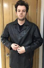 Ben Sherman Mens Size M 42 Chest Reefer Leather Jacket Coat Padded Vintage