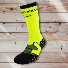 Nike Elite Vapor Football Crew Socks Men's Shoe Size 8-12, Large, Volt/Black