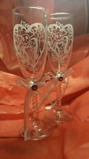 Nightmare Before Christmas Etched Jack and Sally Personalized Wedding Glasses