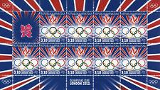 Croatia 2012 MNH London Olympics Olympic Games Logo Rings 9v M/S Sports Stamps