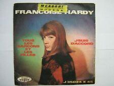 FRANCOISE HARDY 45 TOURS ITALIE TOUS LES GARCONS ET LES