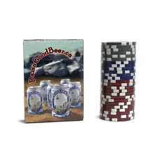 Damn Good Beer | Lighthouse Lager | Playing Cards and Poker Chips Combo | Sealed