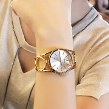 30M Waterproof Women`s Rose Gold Stylish Circle Quartz Dress Bracelet Watches