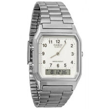Casio Mens Classic Combi Wrist Watch with Numeric Digits - Silver New AQ230A7BMQ