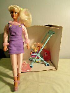 WALKING TANYA DOLL & BABY SITTER STROLLER (NEW) & ACCESSORIES - GIOCHI PREZIOSI