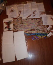 Large Lot of Counted Cross Stitch Aida and Floss from JCA Kits