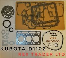 Kubota D1102, 3D76 Gasket kit complete 3 Cyl 76mm Bore Asbestos sheet L235