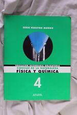 Libro Física y Química 4. Educación secundaria obligatoria. ESO 1998