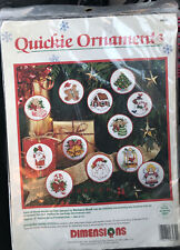 NOS! Dimensions Counted CrossStitch Christmas Quickie Ornament Kit 8430 Makes 12