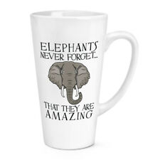 Elephants Never Forget That They Are Amazing 17oz Large Latte Mug Cup - Funny