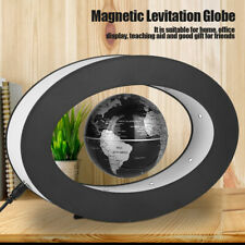 Electronic Magnetic Levitation Floating Globe World Map LED Light Home Decor