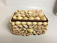 Vintage Souvenir Seashell Covered Trinket Box