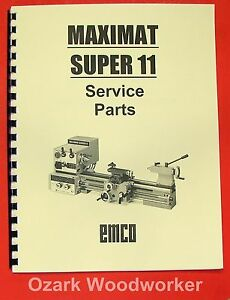 EMCO Maximat Super 11 Metal Lathe Parts Manual 0297