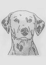 Strass-Steine Hotfix Applikation, Motiv: Dalmatiner zum aufbügeln, 23cm hoch