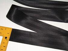 "Nylon Seat Belt Style Webbing, 2"" Black, 1 Yard - 36"" Long Shipped from The USA!"