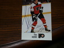 TIM KERR Autographed ESSO Hockey Card-PHILLY