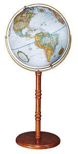 """Replogle Edinburgh II World Globe 16"""" Blue Ocean. Brand New!"""