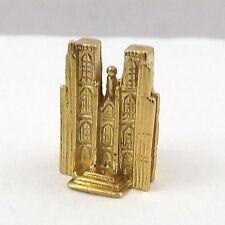 18K Gold 3D St. Saint Michael's Cathedral Brussels Bruxelles Charm Pendant 5.6gr