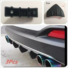 3Pcs Car Rear Bumpers Spoiler Diffuser Protector New Universal
