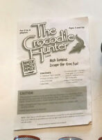 Replacement parts for the crocodile hunter board game instructions and cards